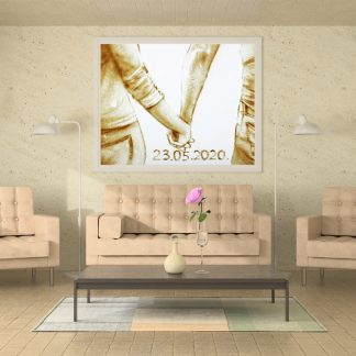 This sand painting is an ideal choice to commemorate any important date for a couple. Be it an anniversary or just a way to celebrate a first meeting, this painting will surely remind you that life is better hand in hand.